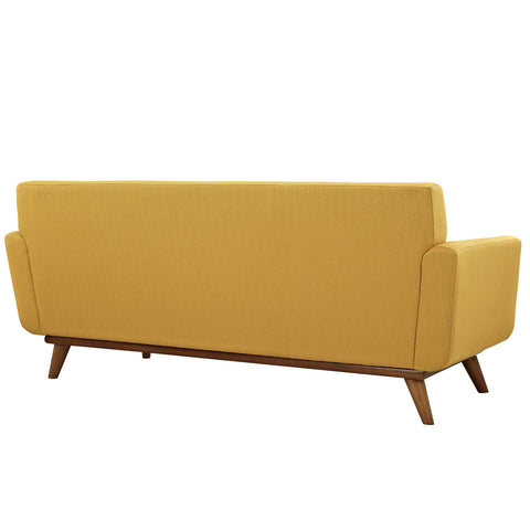 Engage Upholstered Loveseat in Citrus