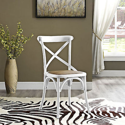 Gear Dining Side Chair in White