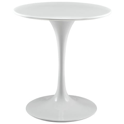 "Saarinen Tulip Style 28"" Dining Table in White"