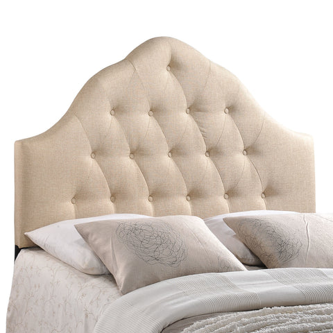 Sovereign Queen Fabric Headboard in Beige
