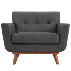 Engage Upholstered Armchair in Gray - Mid Mod Finds
