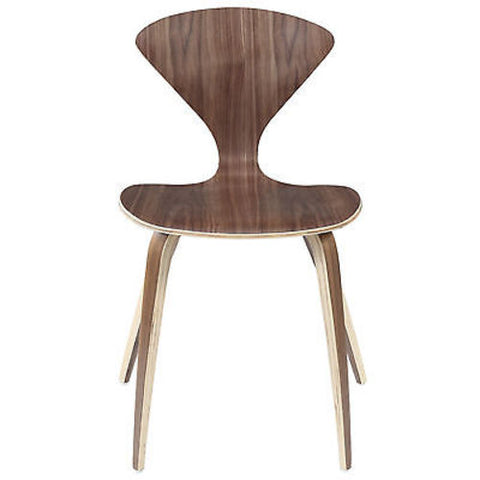 Norman Cherner Style Dining Chair in Dark Walnut