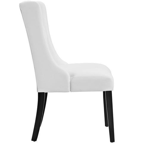 Baronet Vinyl Dining Chair in White