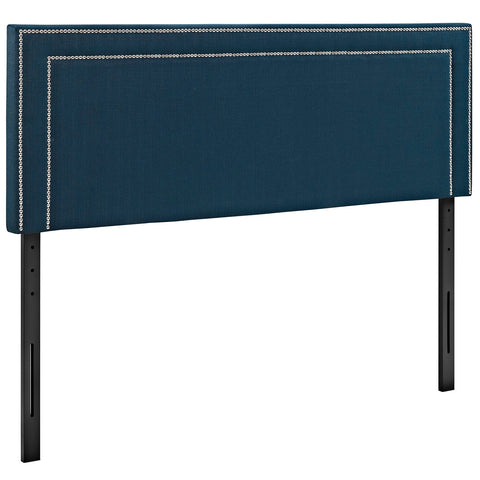 Jessamine Full Upholstered Fabric Headboard in Azure