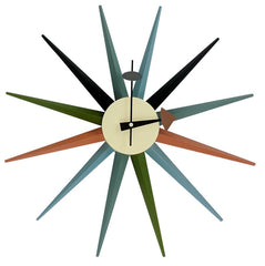 Sunburst Clock in Mulicolor