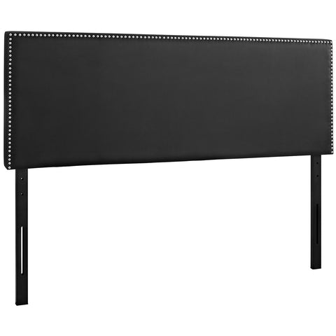 Phoebe Queen Upholstered Vinyl Headboard in Black