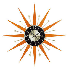 George Nelson Midcentury Modern Style Wooden Starburst Clock - Mid Mod Finds