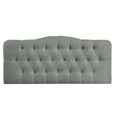 Annabel King Fabric Headboard in Gray - Mid Mod Finds