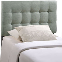 Emily Twin Fabric Headboard in Gray