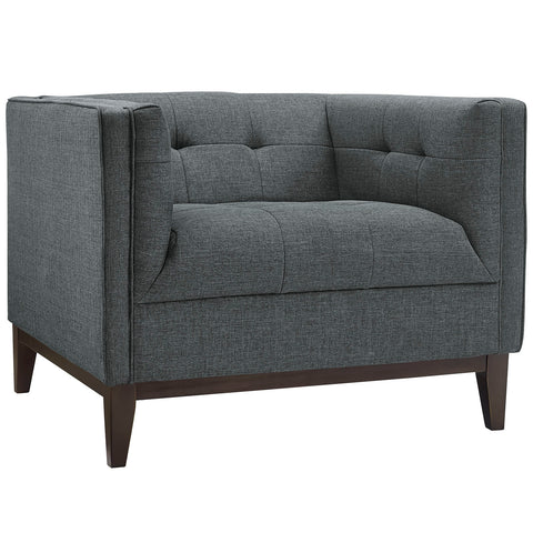 Serve Upholstered Armchair in Gray