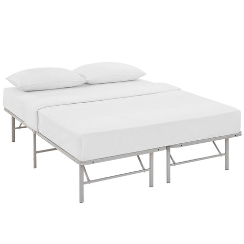 Horizon Queen Stainless Steel Bed Frame in Gray