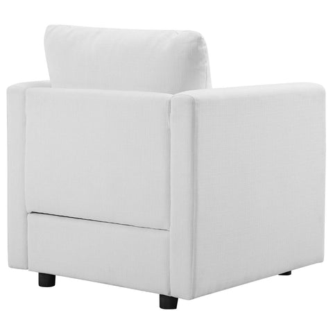 Activate Upholstered Fabric Armchair in White