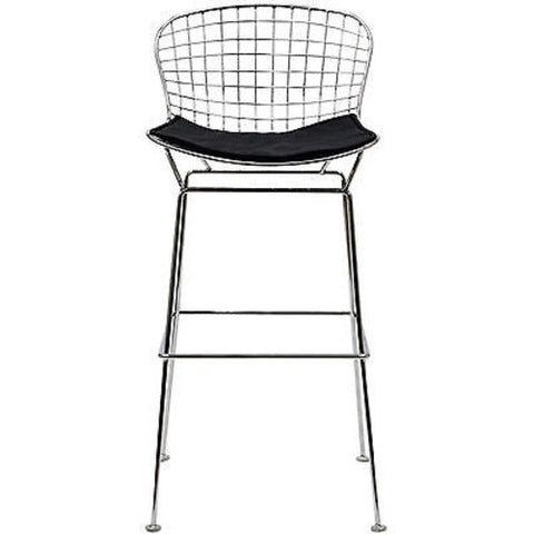 Bertoia Style Wire Bar Stool in Black