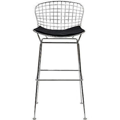 Bertoia Style Wire Bar Stool in Black - Mid Mod Finds