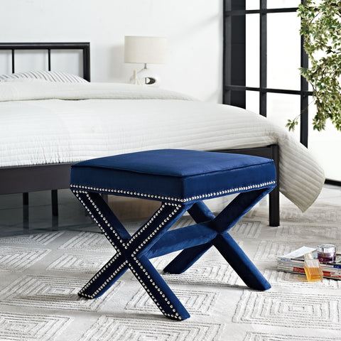 Rivet Bench in Navy