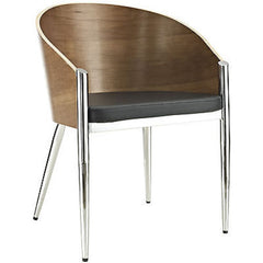 Pratfall Midcentury Modern Style Dining Chair in Silver