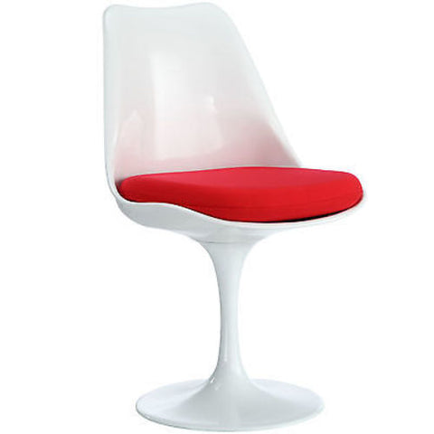 Saarinen Tulip Style Dining Side Chair in Red