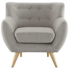 Remark Armchair in Light Gray - Mid Mod Finds
