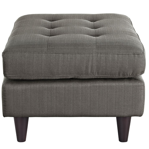 Empress Upholstered Ottoman in Granite
