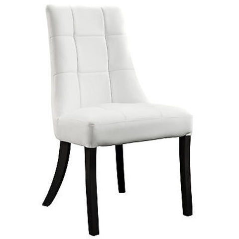 Noblesse Dining Vinyl Side Chair in White
