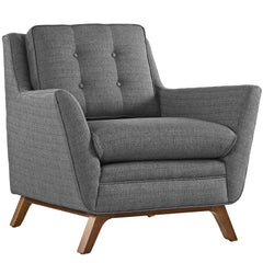 Beguile Fabric Armchair in Gray