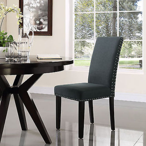 Parcel Dining Fabric Side Chair in Gray