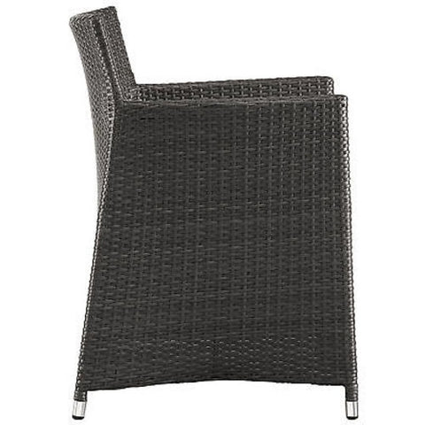 Junction Outdoor Patio Armchair in Brown White
