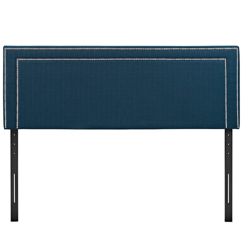 Jessamine King Upholstered Fabric Headboard in Azure