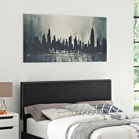 Phoebe Full Upholstered Vinyl Headboard in Black