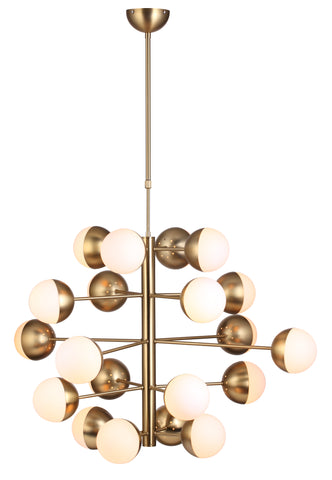 Large Cluster Ceiling Lamp in Brass