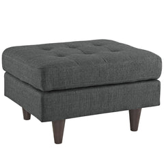 Empress Upholstered Ottoman in Gray