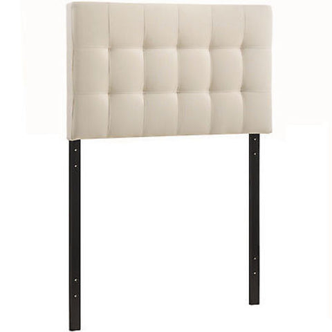Lily Twin Fabric Headboard in Ivory