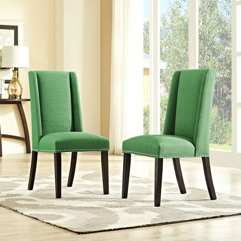 Baron Fabric Dining Chair in Kelly Green