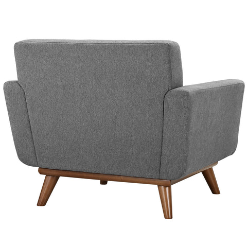 Engage Upholstered Armchair in Expectation Gray
