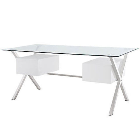 Abeyance Office Desk in White