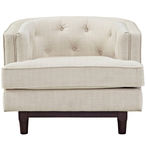 Coast Upholstered Armchair in Beige
