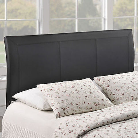 Isabella Queen Vinyl Headboard in Black