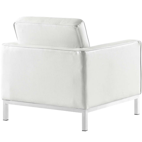Loft Leather Armchair in White
