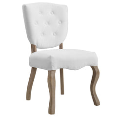 Array Vintage French Upholstered Dining Side Chair in White