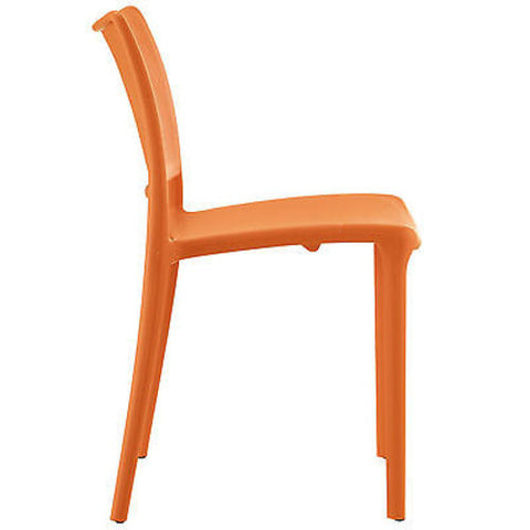 Hipster Dining Side Chair in Orange