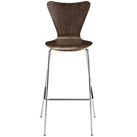 Arne Jacobsen Series Seven Style Bar Stool in Walnut