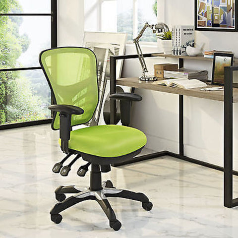 Articulate Mesh Office Chair in Green - Mid Mod Finds