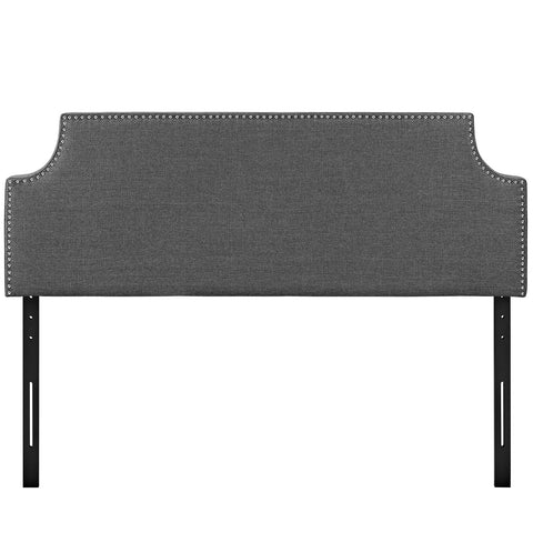Laura Queen Upholstered Fabric Headboard in Gray