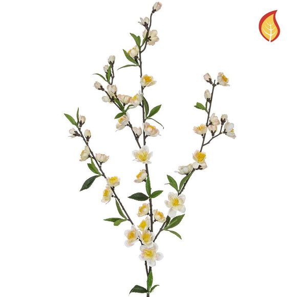 Foliage Flw Cherry Blossom DB Crm 72cm - Fire Rated