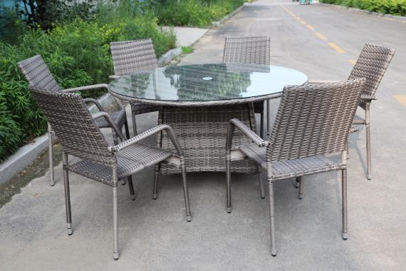 CALIFORNIA 6-SEAT ROUND SET - GREY (Pre-Order)