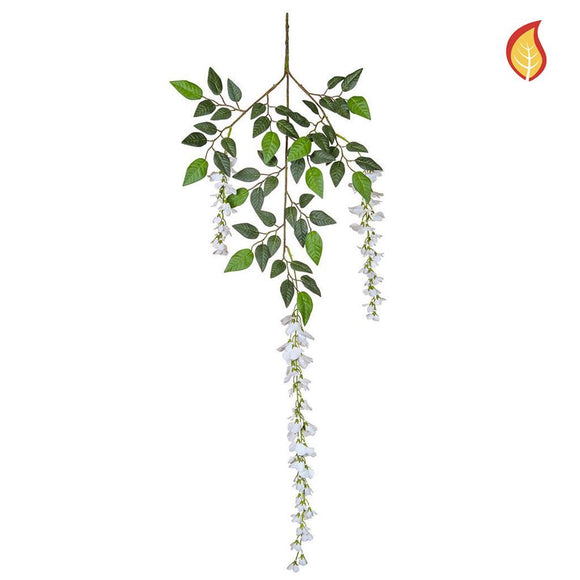 Foliage Wisteria White PI 110cm - Fire Rated