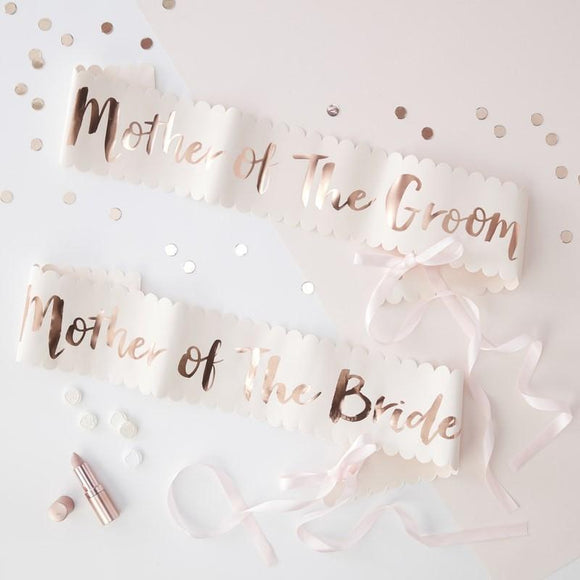 mother of the bride groom sash