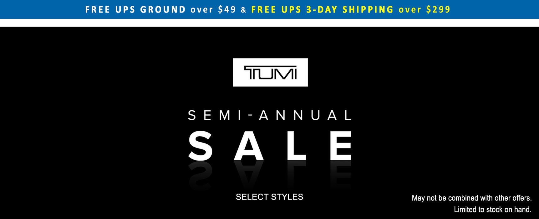 TUMI Semi-Annual Sale