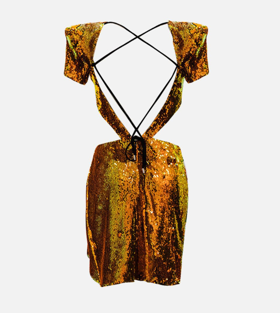 Meraki Official JACQ Gold Dress