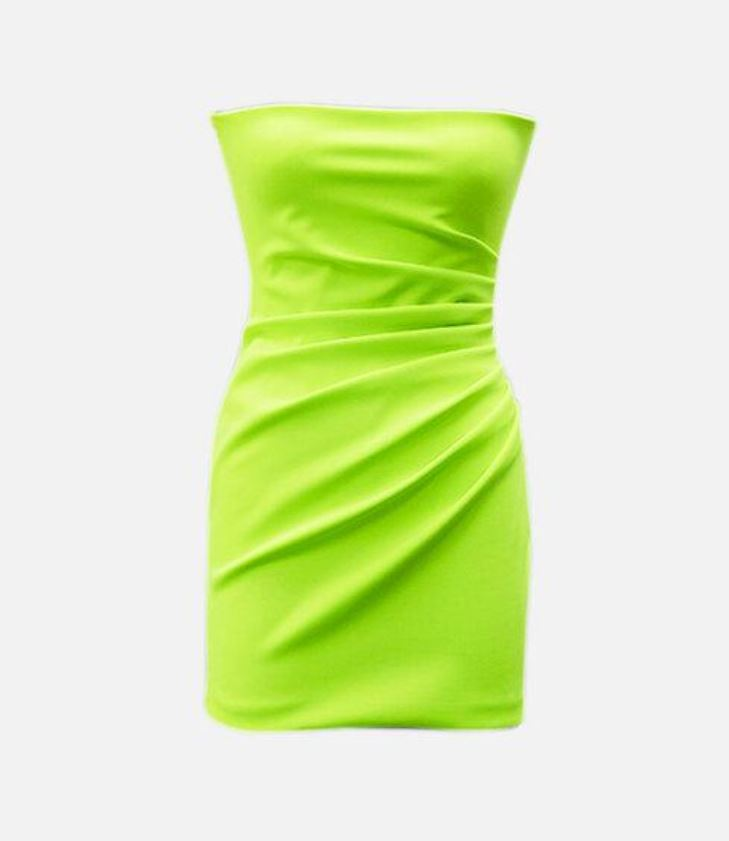 Meraki Official KEATON NEON Green Dress